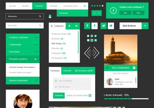 Flat UI Kit by Wahib El Younssi