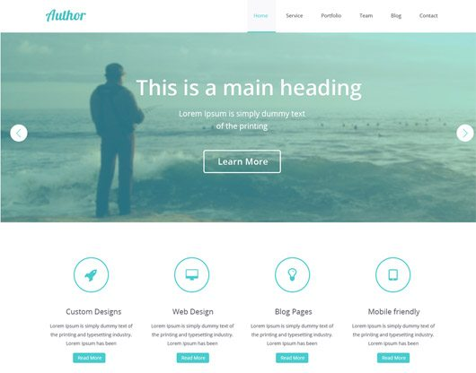 Free Website Layout PSD Templates– November Issue