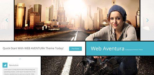 Web Aventura Homepage PSD