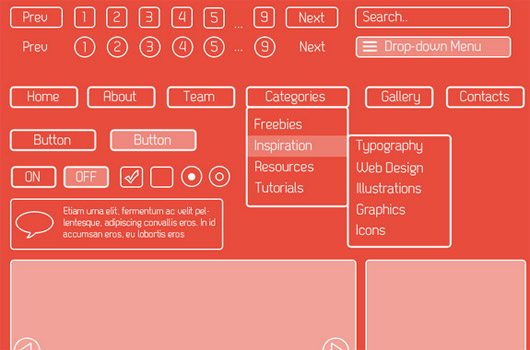 Elegant Outline GUI Set part 1