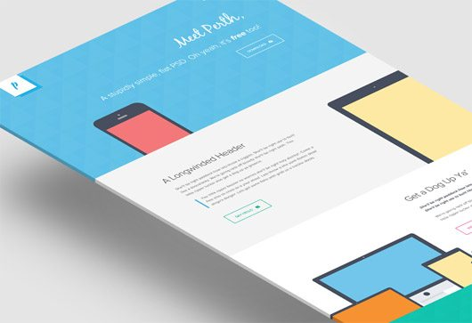 Perth - A Free Flat Web Design. by Peter Finlan