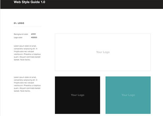 Free Web Style Guide PSD Template