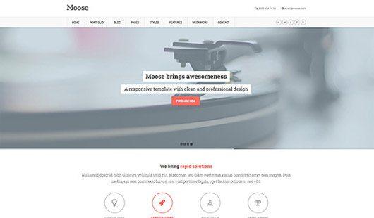 Moose Free Homepage PSD