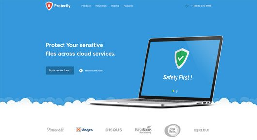 Protectly Website- PSD Freebie by Balkan Brothers