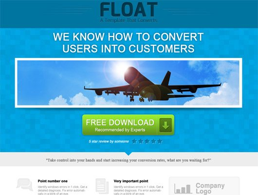 Float Landing Page by Amit Keren - Loopim