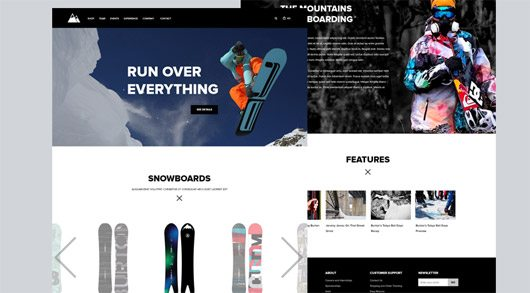 Snowboarding Website Free by Andrey S. Rodrigues