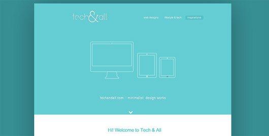 Minimalist PSD Landing Page Template