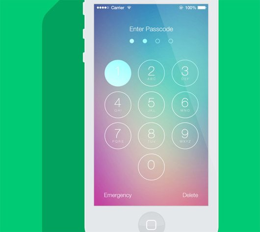 iOS7 Passcode Screen by HoSsEiN Farzan