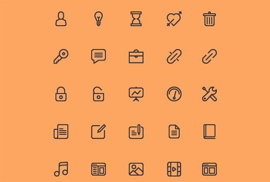 Cicons: 40 Outline Icons