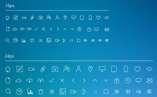 IOS7 Line Icons by iframe communication design