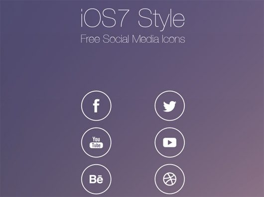 iOS7 Style Social Media Icons by Roberts Ozolins