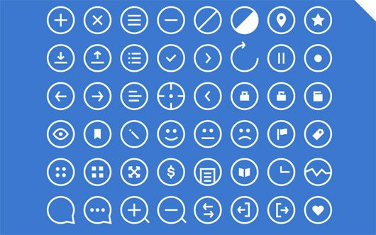 48 Rounded Icons - Get 'em! by Robin Kylander