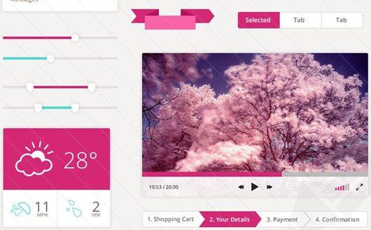 Free Flat UI Design Kit