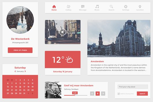 Flat UI kit (psd) by Hugo
