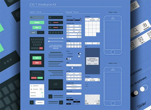 iOS7 Wireframe by Jay Visavadia
