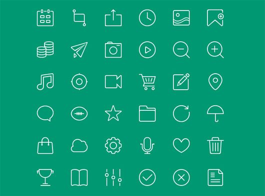 Free 48px icons PSD by Ava