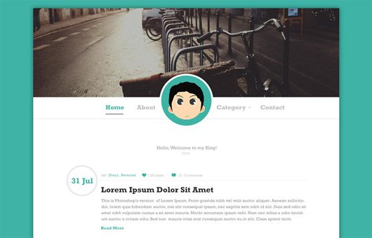 Simple Blog PSD Template by Bagus Fikri