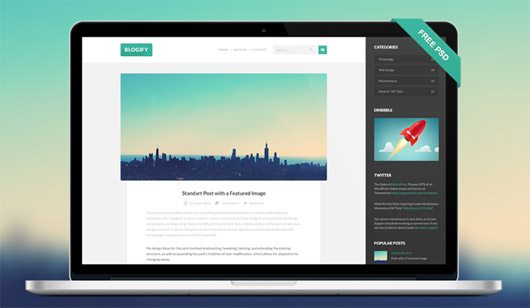 Free PSD Template by SuitsTheme