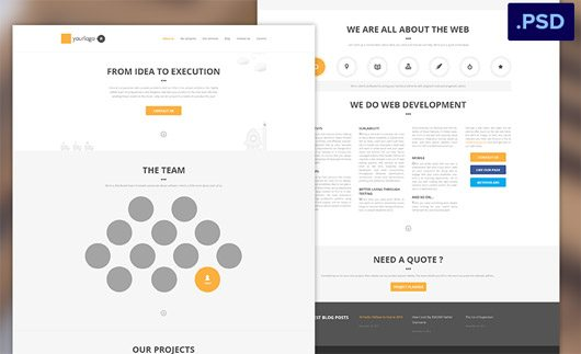 Homepage Psd by Edi Gil