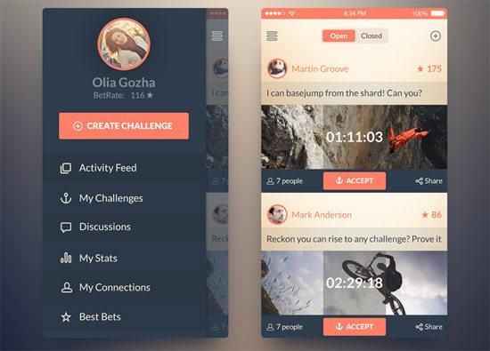 iOS7 Challenge App by Olia Gozha