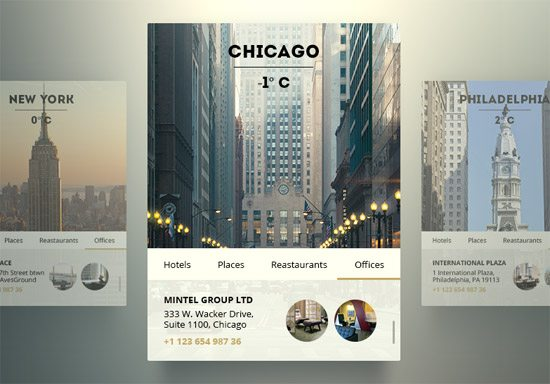 US City Widget by Olia Gozha