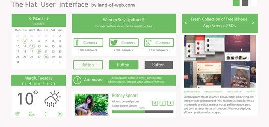 Green Flat User Interface vol.1