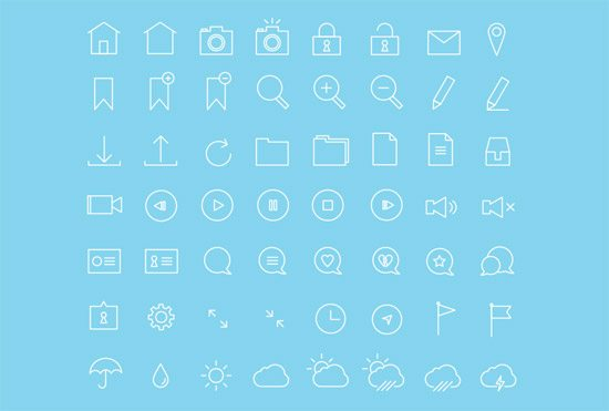 Thin Stroke 56 Icon Set by Leslie Chen