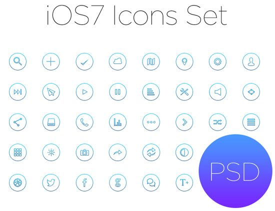 Ios7 Outline Icon Set by Alex Botic