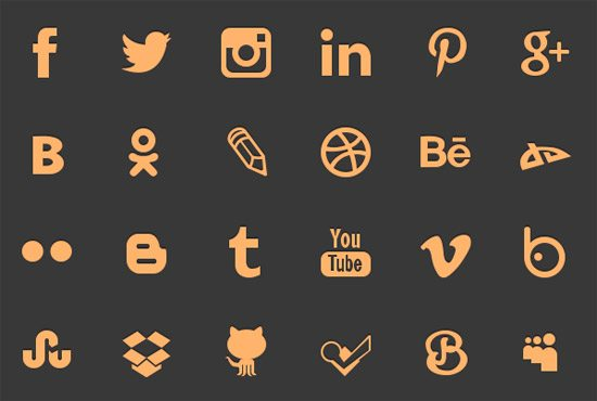 Social networking icons by Elena