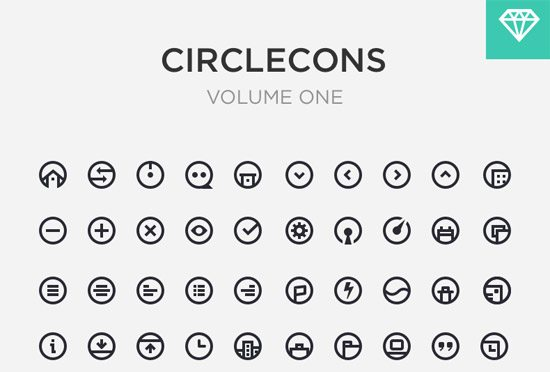 Circlecons Vol1 Sketch Download by Onur Oztaskiran