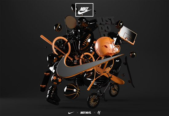 Nike - 3D Experiential by Ben Fearnley