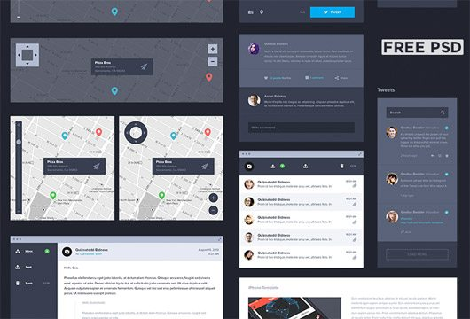 UI Kit Dark [Free] by Creativedash