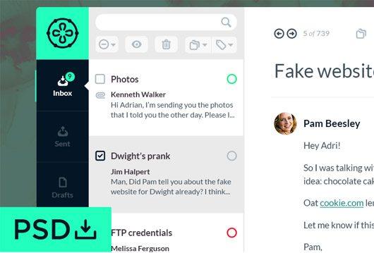 Jelo Mail App [free PSD] by Adrián Somoza