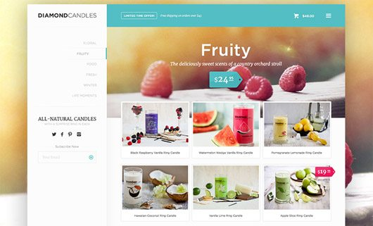 Ecommerce Store Page by Jeffrey Kam
