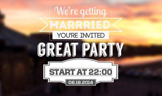 Typographic Wedding Invitations by  Denis Forzi
