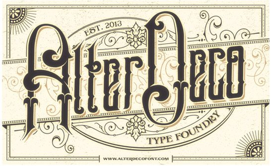 Typo Play AlterDeco Typefoundry by adit saputra