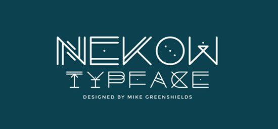 Nekow Typeface Design by Mike Greenshields