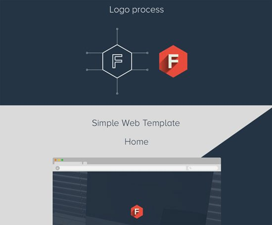 Flatstyle Web Layout by Dimple Bhavsar