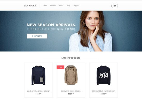 PSD eCommerce Website Template