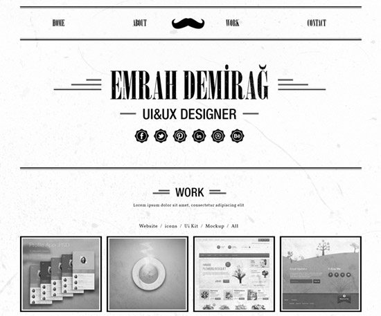 Retro Single Page Portfolio Template