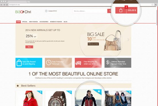 E-commerce Template by Bridge Hicham