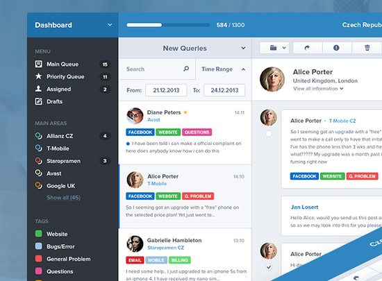 Customer Care UI by Jan Losert