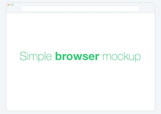 Simple Browser Mockup by Lukáš Vilkus