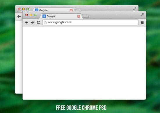 Google chrome PSD by Denis Antropov