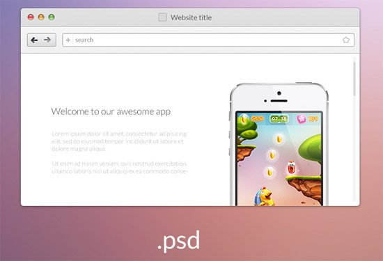 web-browser psd by Gustav Ågren