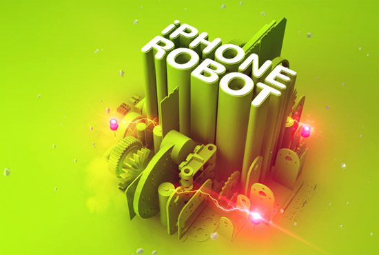 iPhone Robot by Clément Pavageau