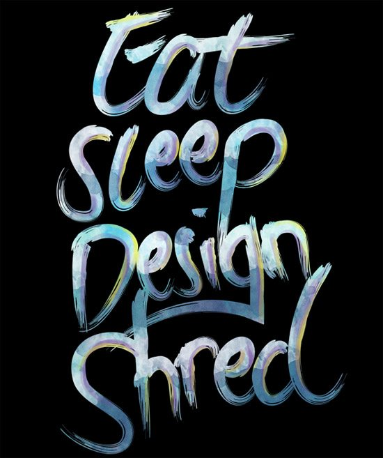 Eat, Sleep, Design, Shred by Mitch Antonio