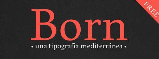 Born Typeface  by Carlos de Toro