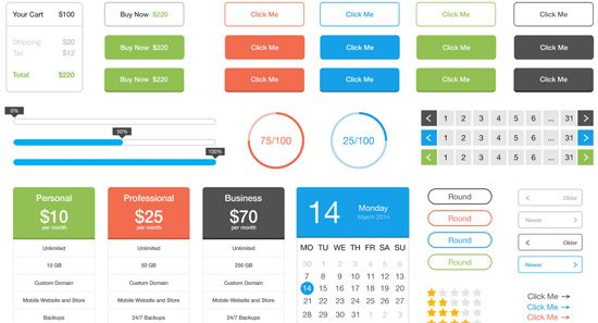 Flat UI Kit by Johnny J