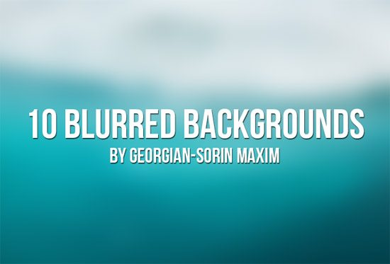 10 Blurred Backgrounds by Georgian-Sorin Maxim